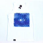 ABUV - Purple Box White Tank Top