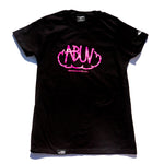 ABUV - Womens Tag Tee Black/Pink