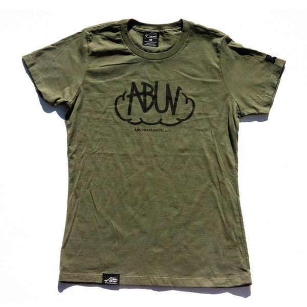 ABUV - Womens Tag Tee Green/Black