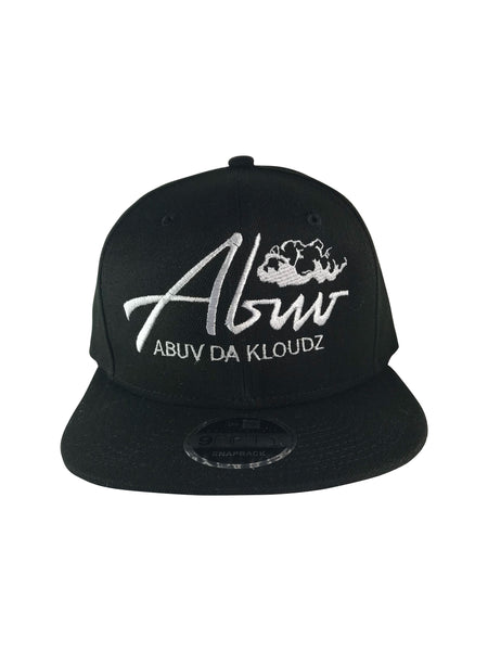 ABUV- Snapback Hat Black/ White
