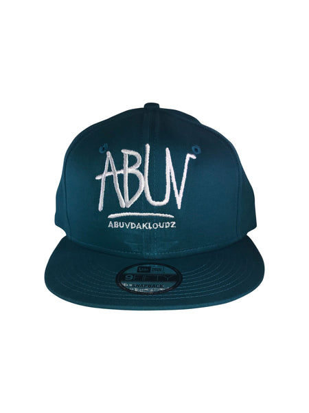 ABUV-Snapback Hat Teal/White