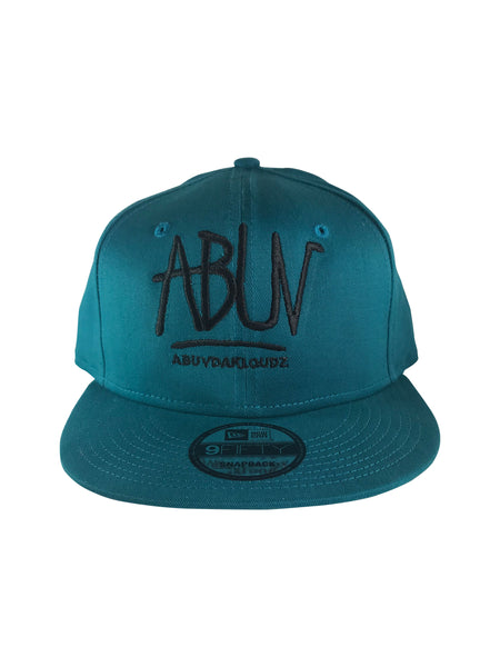 ABUV- Snapback Hat Teal/Black