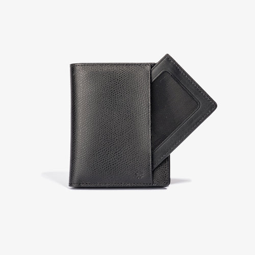 Black Leather Bifold Wallet with Removeable Card Holder