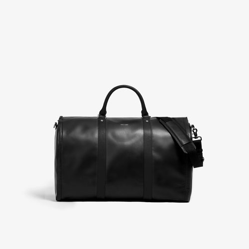 Men's Black and Black Garment Weekender Bag