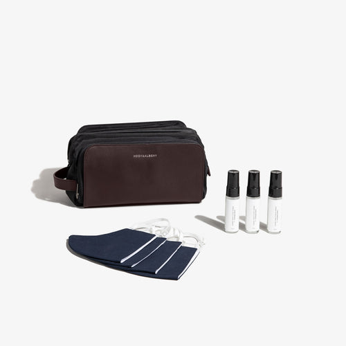 Brown Dopp Safe Travel Kit