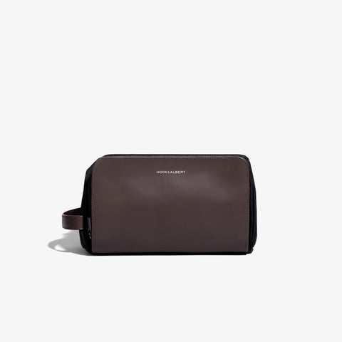 Espresso Brown Leather Travel Dopp Kit