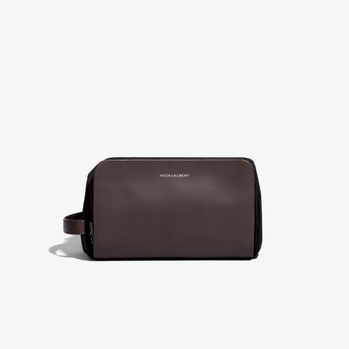 Brown Leather Travel Dopp Kit
