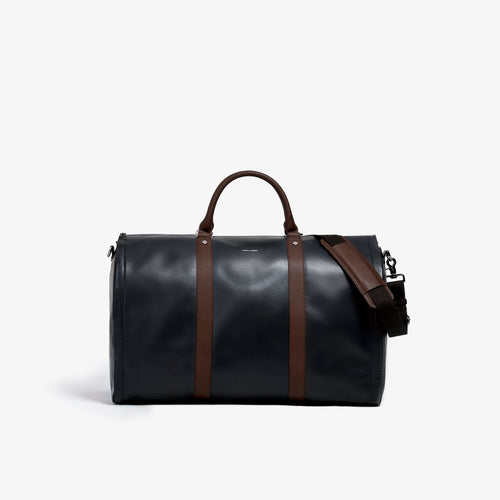Men's Black and Brown Garment Weekender Bag - Sample Sale
