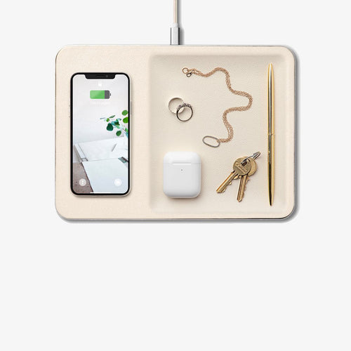 Wireless Charging Valet - Bone