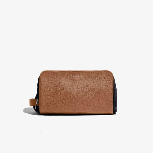 Caramel Leather Travel Dopp Kit