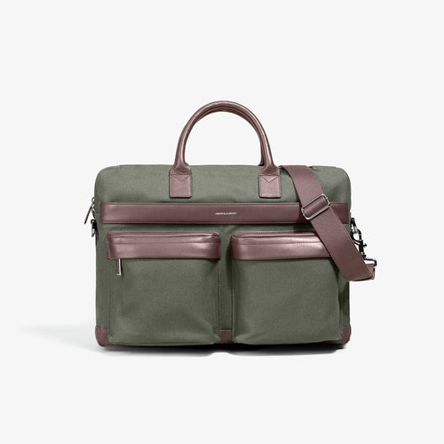 Olive Casual Computer Briefcase