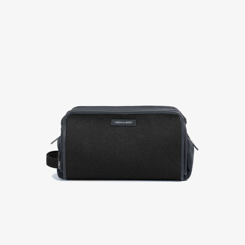 Black Twill Travel Dopp Kit
