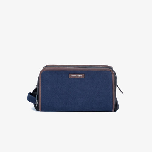 Navy Twill Travel Dopp Kit