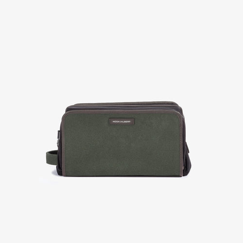 Olive Twill Travel Dopp Kit