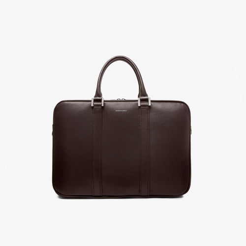 Espresso Brown Leather Laptop Briefcase