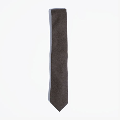 Brown Solid Wool Tie