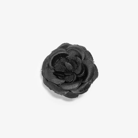 Black Ash Small Lapel Flower