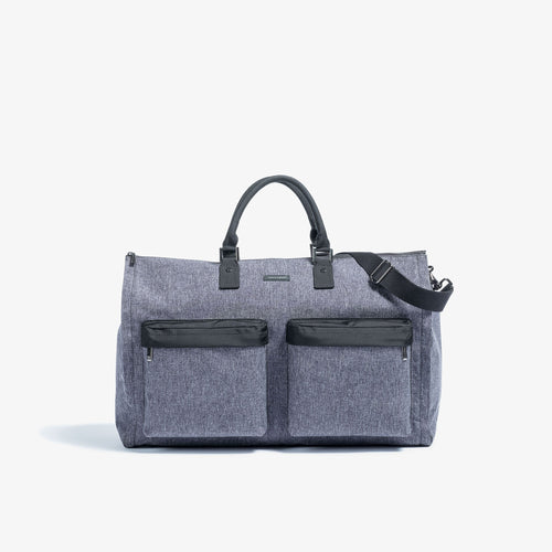 Men's Melange Fabric Garment Weekender Bag