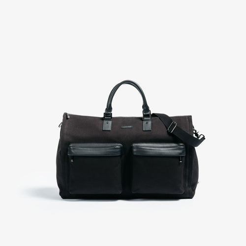 Men's Black Twill Garment Weekender Bag