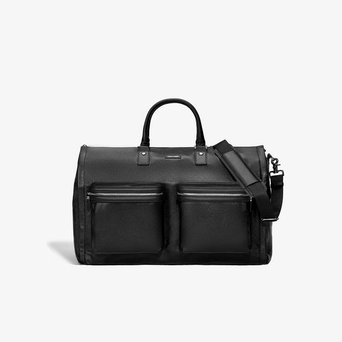 PRE-SALE | SS 2020 | Men's Black Leather Garment Weekender Bag