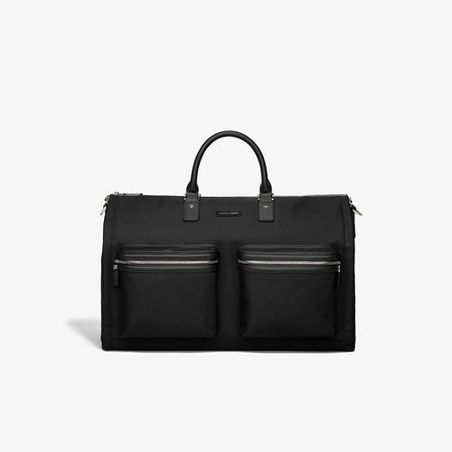 Men's Black Fabric Garment Weekender Bag