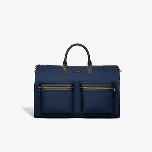 Men's Navy Fabric Garment Weekender Bag
