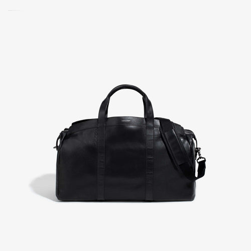 The Getaway Black Leather Duffel
