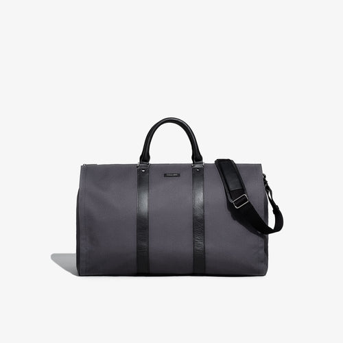 Men's Gray Twill Garment Weekender Bag