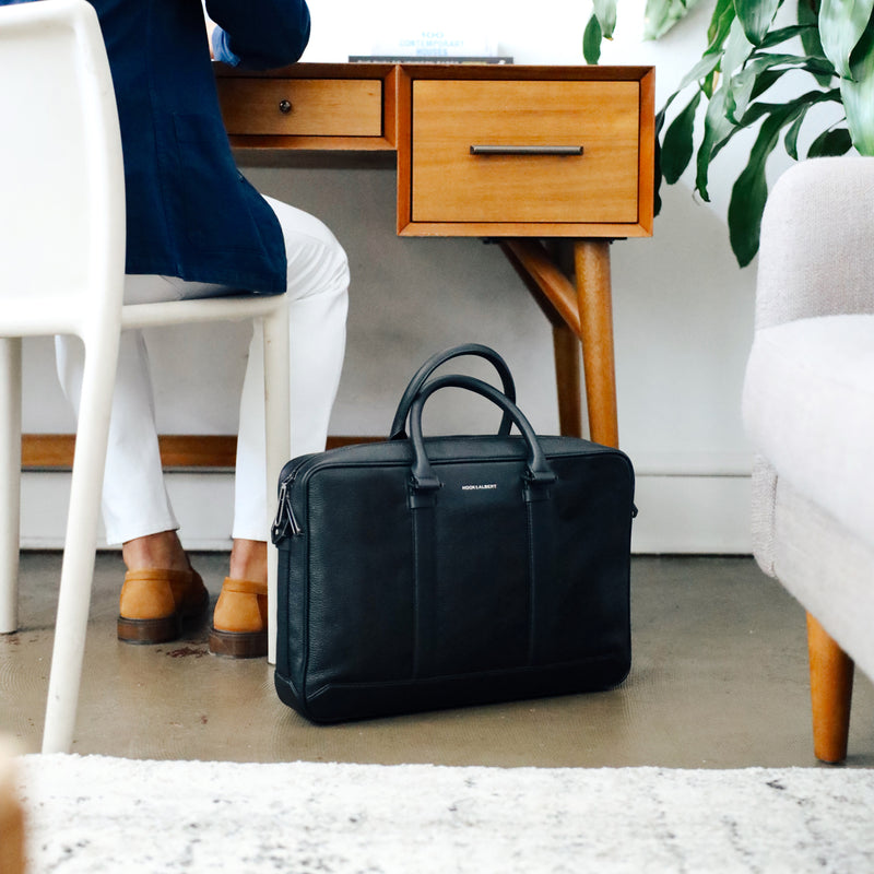 Black Leather Formal Briefcase