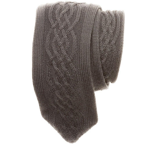 Clarkson Cable-Knit Wool Tie