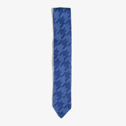 Gray and Navy Houndstooth Tie