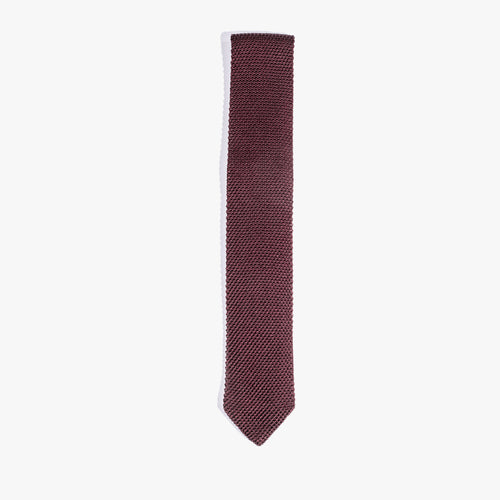 Burgundy Solid Knit Tie