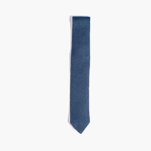 Blue Solid Knit Tie