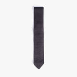 Charcoal Solid Knit Tie