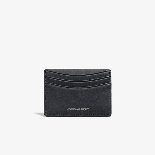 Black Smooth Leather Card Holder