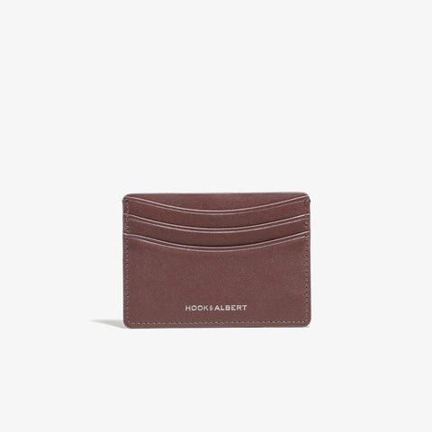 Brown Smooth Leather Card Holder