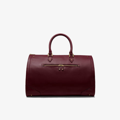 Women's Bordeaux Leather Weekender Bag