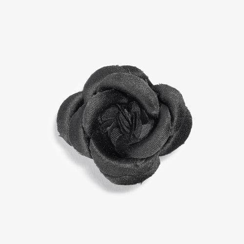 Black Notes Large Buttercup Lapel Flower