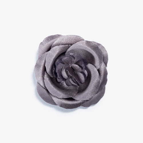 Mahal Gray Large Lapel Flower