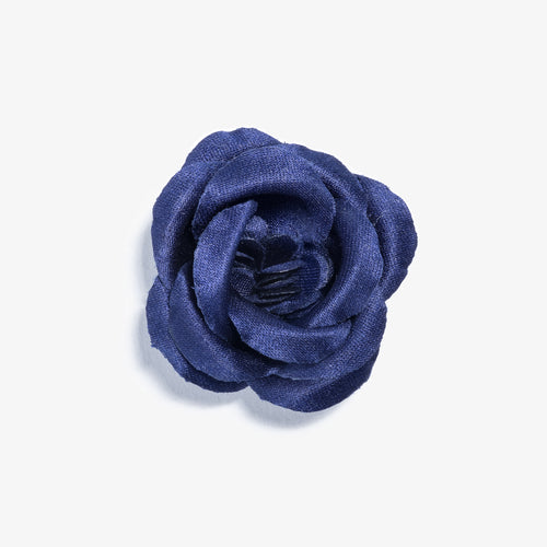 Colosseum Navy Large Lapel Flower
