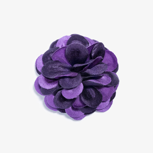 Purple Two Tone Large Lapel Flower
