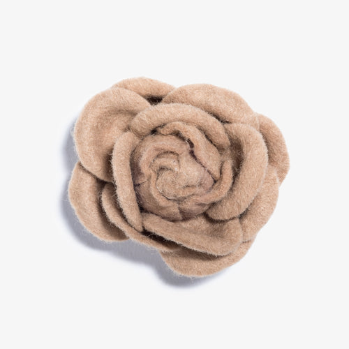 Light Brown Extra Large Top Coat Lapel Flower
