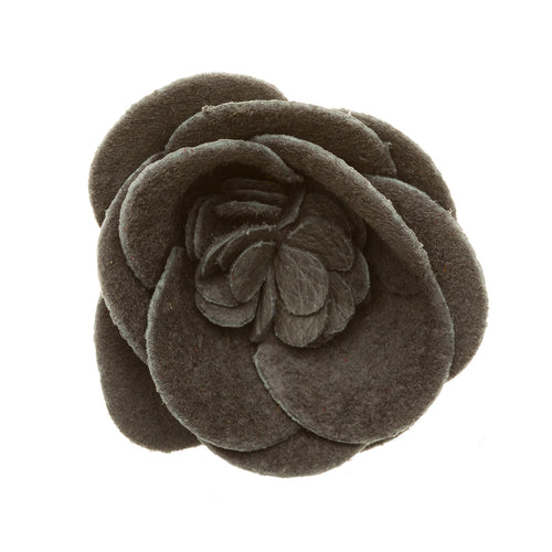 Piranha Large Suede Buttercup Lapel Flower