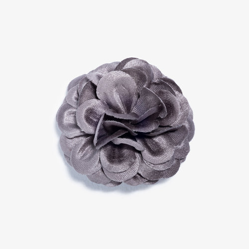Gray Lapel Flower - Large