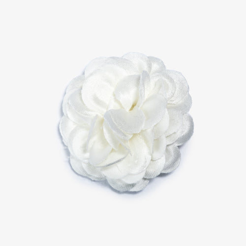 Ivory Lapel Flower - Large