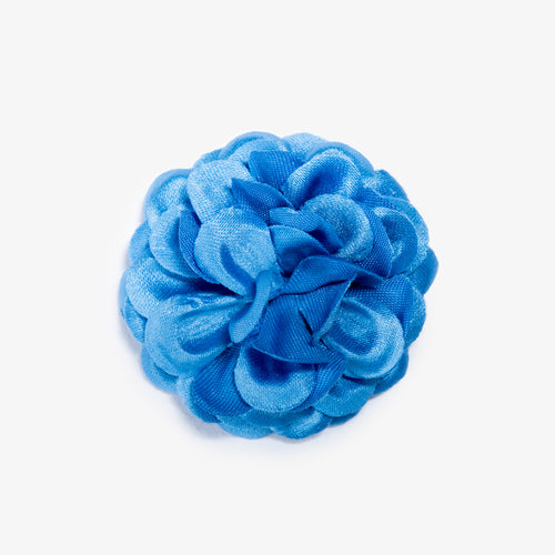 Light Blue Lapel Flower - Large
