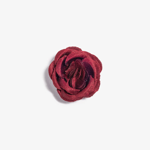 Maroon Small Lapel Flower