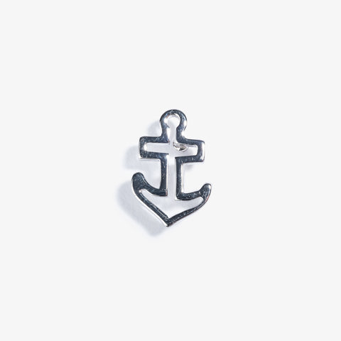 Silver Anchor Lapel Pin