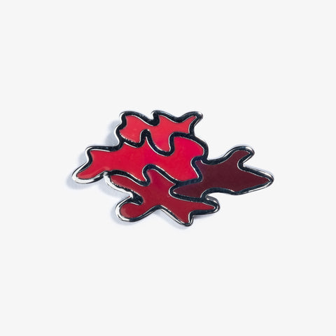 Red Camo Pin