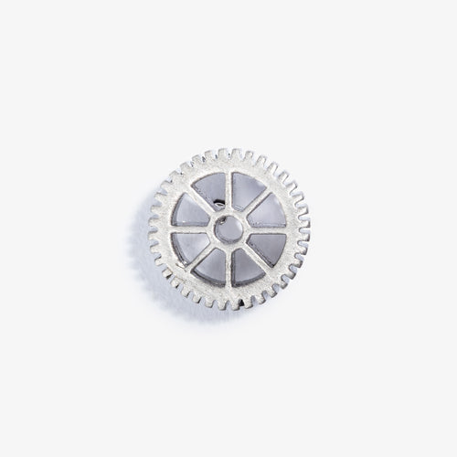 Silver Gear Lapel Pin